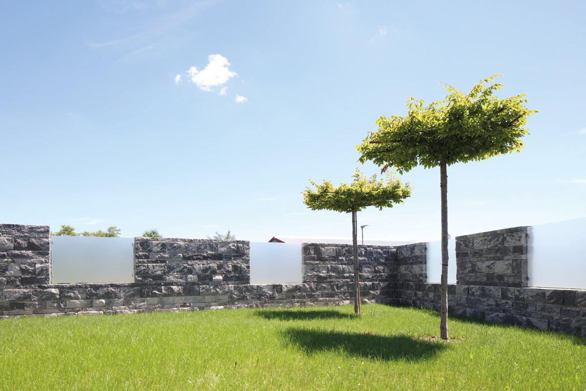Spaltsteinmauersysteme Cantera-Tres Getrommelt