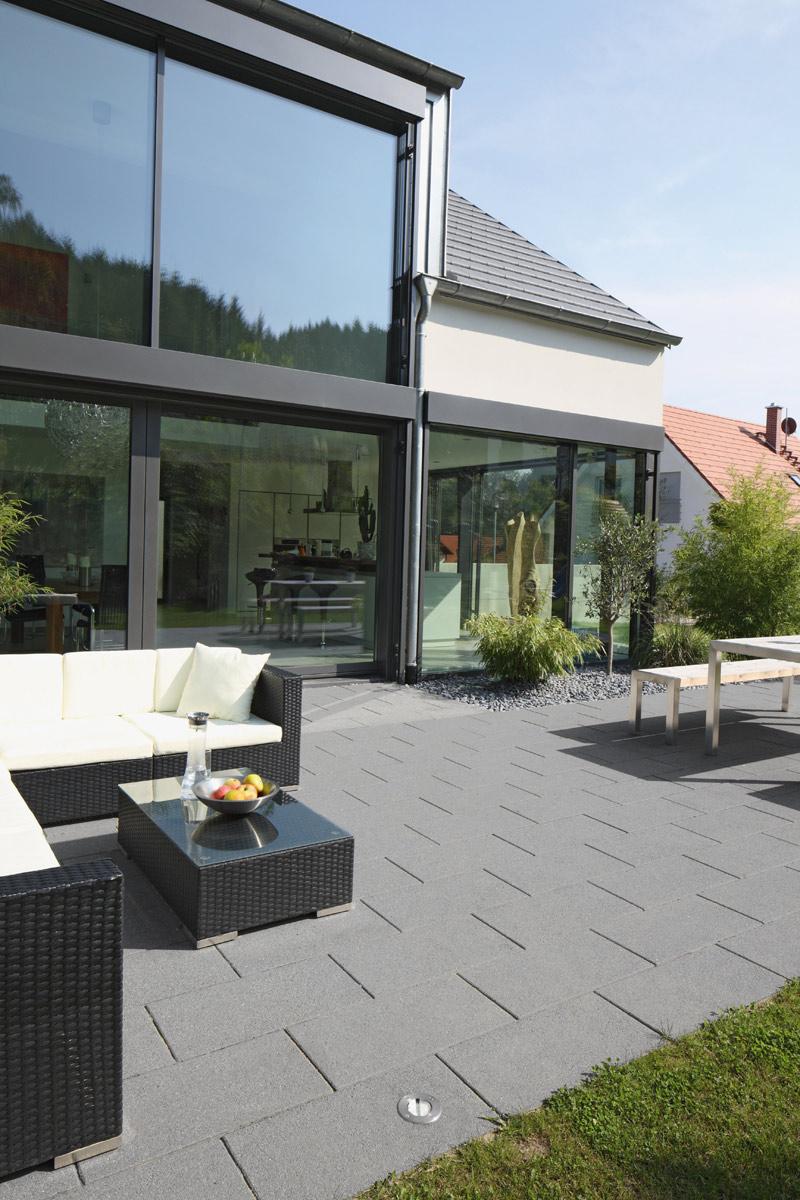 Granplano Edelstahlkugelgestrahlt - Großformatplatten - 1